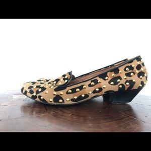 Office shoes Loafers - animal print